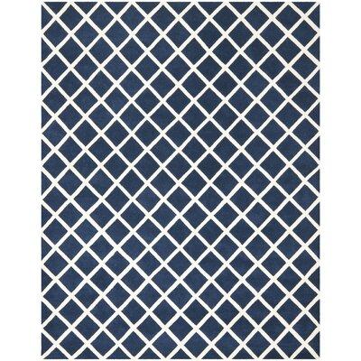 Wilkin Dark Blue / Ivory Rug Rug Size: 5 x 8