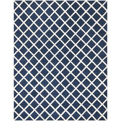 Wilkin Dark Blue / Ivory Rug Rug Size: 9 x 12