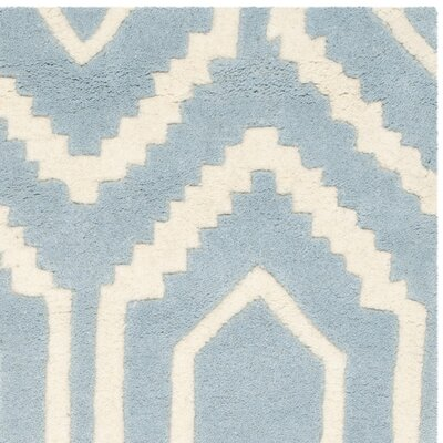 Wilkin Hand-Tufted Blue/Ivory Area Rug Rug Size: Rectangle 8 x 10
