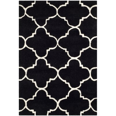 Wilkin Black / Ivory Rug Rug Size: Rectangle 2 x 3