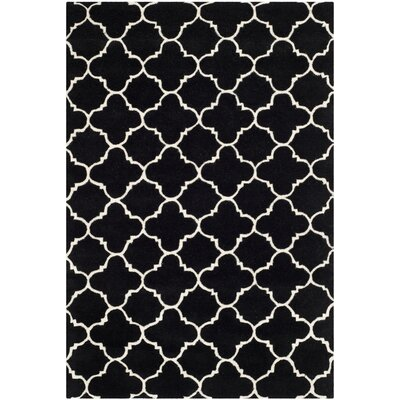 Wilkin Black / Ivory Rug Rug Size: Rectangle 4 x 6