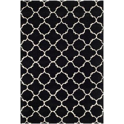 Wilkin Black / Ivory Rug Rug Size: 4 x 6