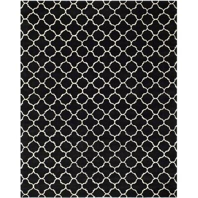 Wilkin Black / Ivory Rug Rug Size: 8 x 10