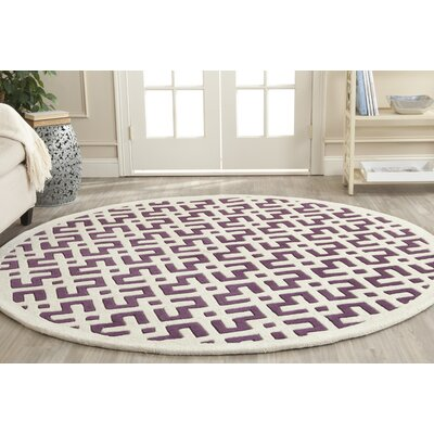 Wilkin Purple / Ivory Rug Rug Size: Rectangle 2 x 3