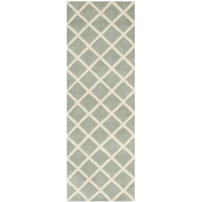 Wilkin Hand-Tufted Gray/Ivory Area Rug Rug Size: Runner 23 x 11
