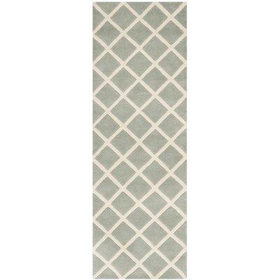 Wilkin Grey / Ivory Rug Rug Size: Runner 23 x 11