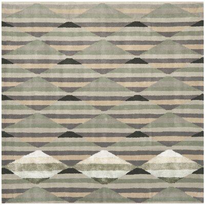 Wilkin Grey / Multi Rug Rug Size: Square 7