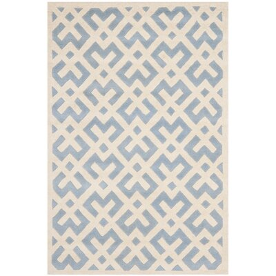 Wilkin Blue / Ivory Rug Rug Size: 2 x 3