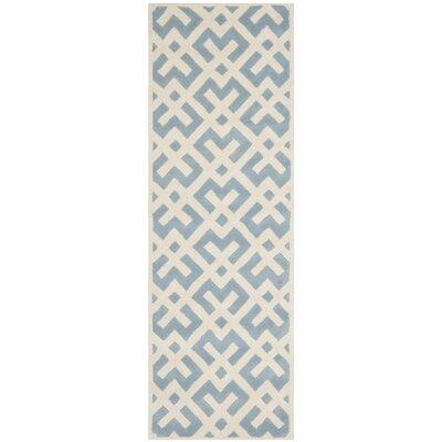 Wilkin Blue / Ivory Rug Rug Size: Runner 23 x 9
