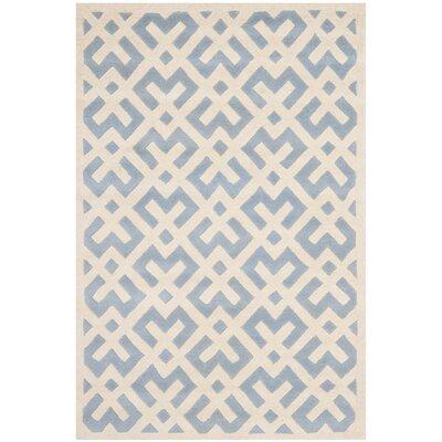 Wilkin Blue / Ivory Rug Rug Size: 5 x 8
