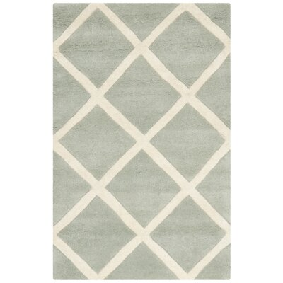 Wilkin Grey / Ivory Rug Rug Size: Rectangle 8 x 10