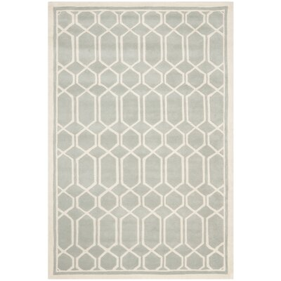 Wilkin Grey / Ivory Rug Rug Size: 3 x 5