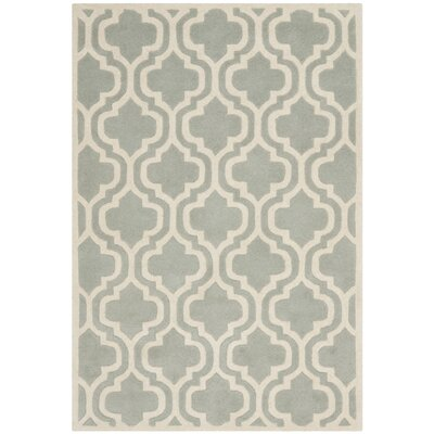 Wilkin Grey / Ivory Rug Rug Size: Rectangle 3 x 5