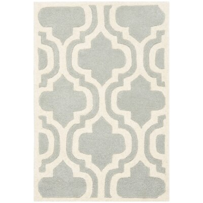 Wilkin Grey / Ivory Rug Rug Size: 2 x 3