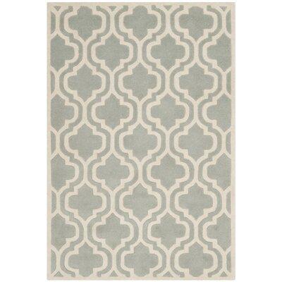 Wilkin Grey / Ivory Rug Rug Size: 4 x 6