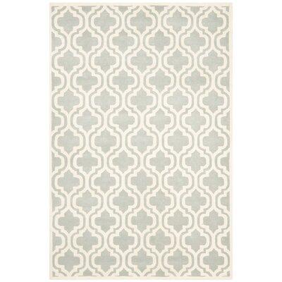 Wilkin Grey / Ivory Rug Rug Size: 6 x 9