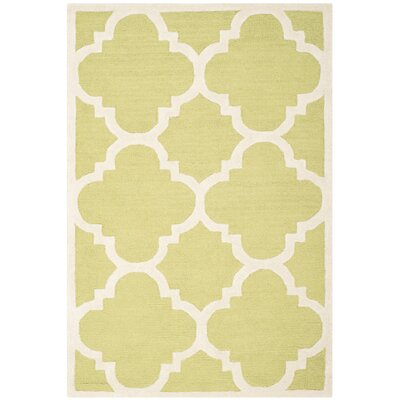 Martins Green / Ivory Area Rug Rug Size: 6 x 9