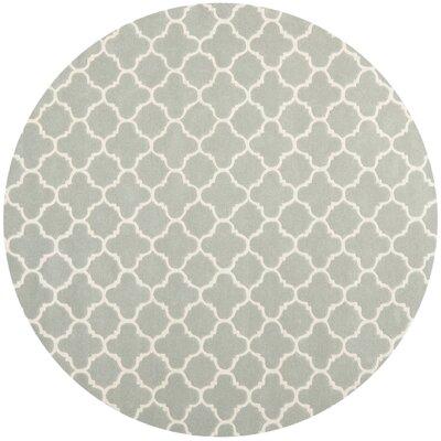 Wilkin Grey / Ivory Rug Rug Size: Round 7