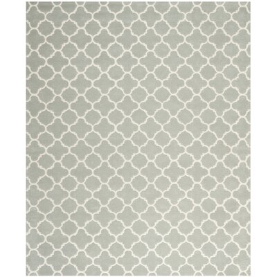 Wilkin Grey / Ivory Rug Rug Size: Rectangle 89 x 12