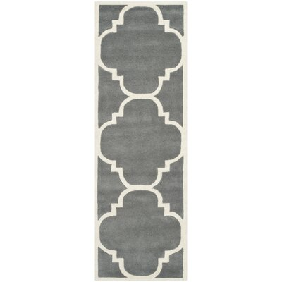 Wilkin H-Tufted Dark Gray Area Rug Rug Size: Runner 23 x 5