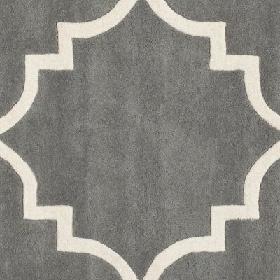 Wilkin H-Tufted Dark Gray Area Rug Rug Size: Rectangle 5 x 8
