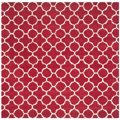Wilkin Red &  Area Rug Rug Size: Square 7