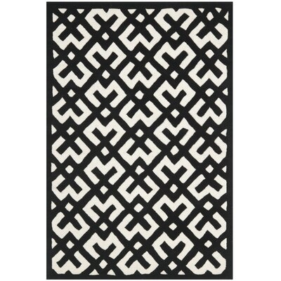 Wilkin Ivory / Black Rug Rug Size: Rectangle 4' x 6'