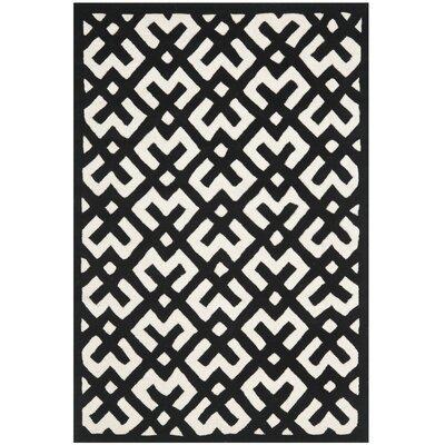 Wilkin Ivory / Black Rug Rug Size: 4 x 6
