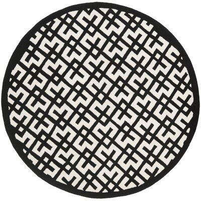 Wilkin Ivory / Black Rug Rug Size: Round 7