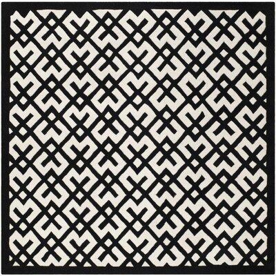 Wilkin Ivory / Black Rug Rug Size: Square 7