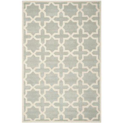 Wilkin Hand-Woven Gray Area Rug Rug Size: Rectangle 4 x 6