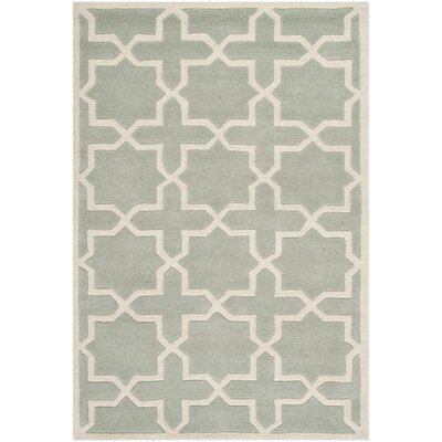 Wilkin Hand-Woven Gray Area Rug Rug Size: Rectangle 3 x 5