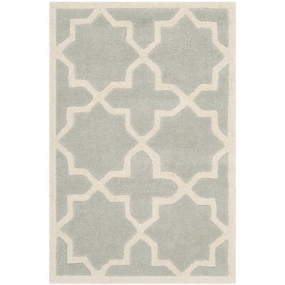 Wilkin Hand-Woven Gray Area Rug Rug Size: Rectangle 2' x 3'
