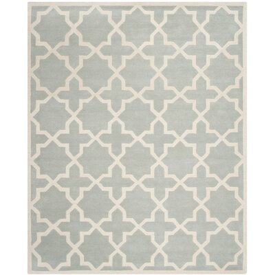 Wilkin Hand-Woven Gray Area Rug Rug Size: Rectangle 11 x 15