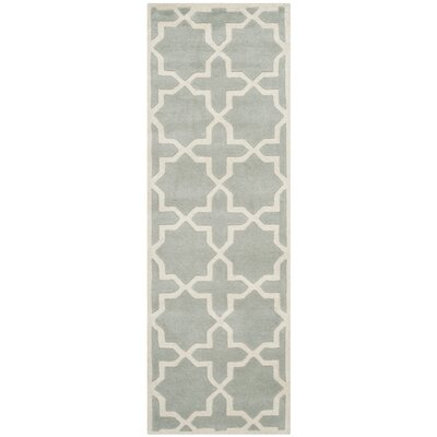 Wilkin Hand-Woven Gray Area Rug Rug Size: Runner 23 x 7