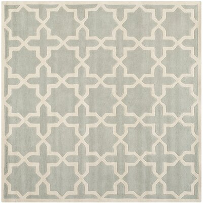 Wilkin Hand-Woven Gray Area Rug Rug Size: Square 4
