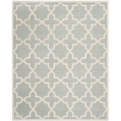 Wilkin Grey / Ivory Rug Rug Size: 10 x 14