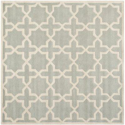 Wilkin Grey / Ivory Rug Rug Size: Square 5