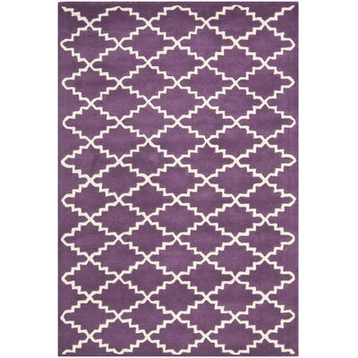 Wilkin Purple / Ivory Rug Rug Size: Rectangle 4' x 6'