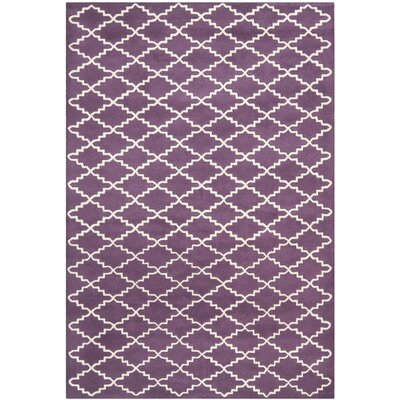 Wilkin Purple / Ivory Rug Rug Size: Rectangle 6 x 9