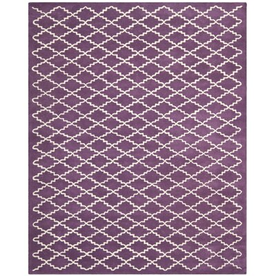 Wilkin Purple / Ivory Rug Rug Size: Rectangle 8 x 10