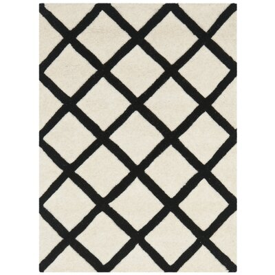 Wilkin Ivory & Black Area Rug Rug Size: Rectangle 8 x 10