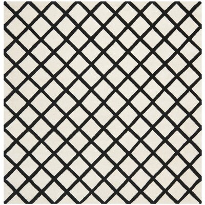 Wilkin Ivory & Black Area Rug Rug Size: Square 7