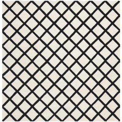 Wilkin Ivory & Black Area Rug Rug Size: Square 7
