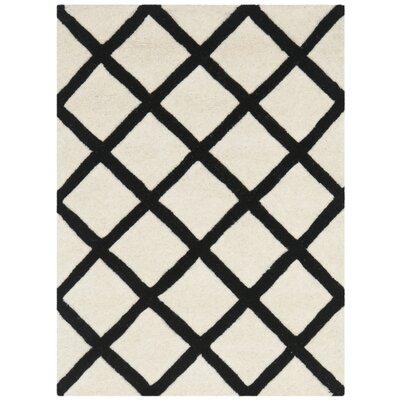 Wilkin Ivory & Black Area Rug Rug Size: 8 x 10