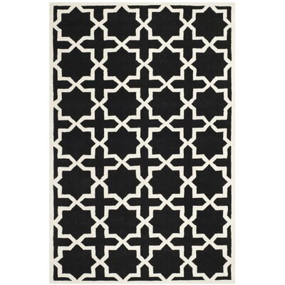 Wilkin Black & Ivory Area Rug Rug Size: Rectangle 6 x 9