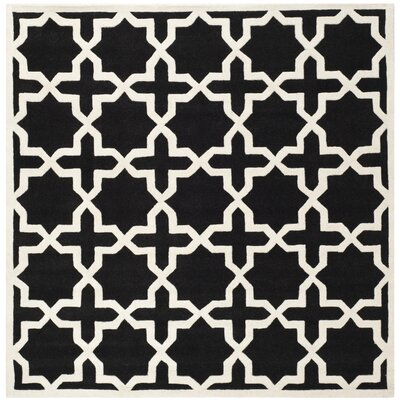 Wilkin Black & Ivory Area Rug Rug Size: Square 7