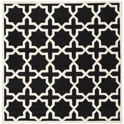 Wilkin Black & Ivory Area Rug Rug Size: Square 89