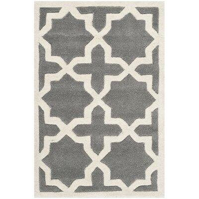 Wilkin Dark Grey / Ivory Rug Rug Size: 2 x 3