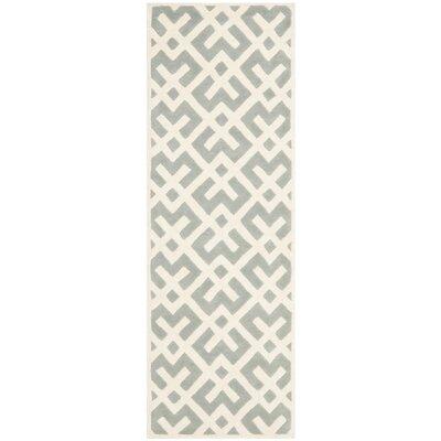 Wilkin Grey / Ivory Rug Rug Size: Runner 23 x 5